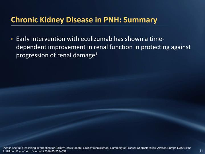 Chronic Kidney Disease in PNH: Summary
