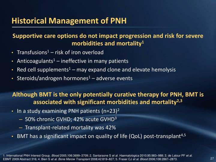 Historical Management of PNH