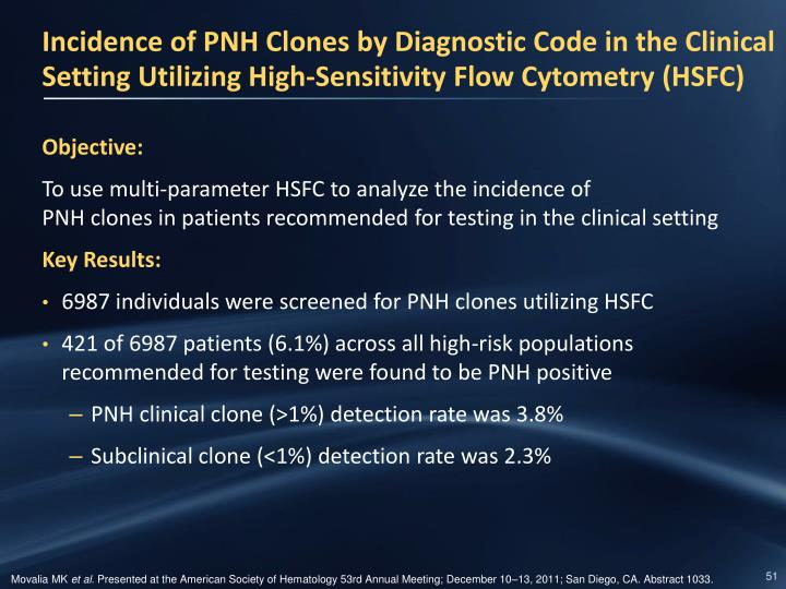 Incidence of PNH Clones by Diagnostic Code in the Clinical Setting Utilizing High-Sensitivity Flow
