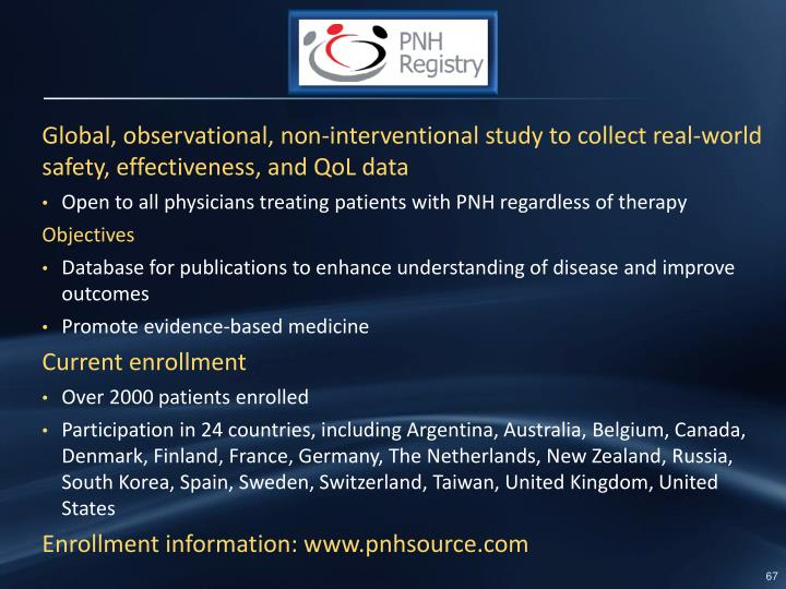Global, observational, non-interventional study to collect real-world safety, effectiveness, and