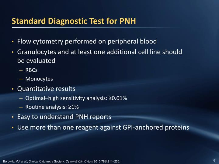Standard Diagnostic Test for PNH