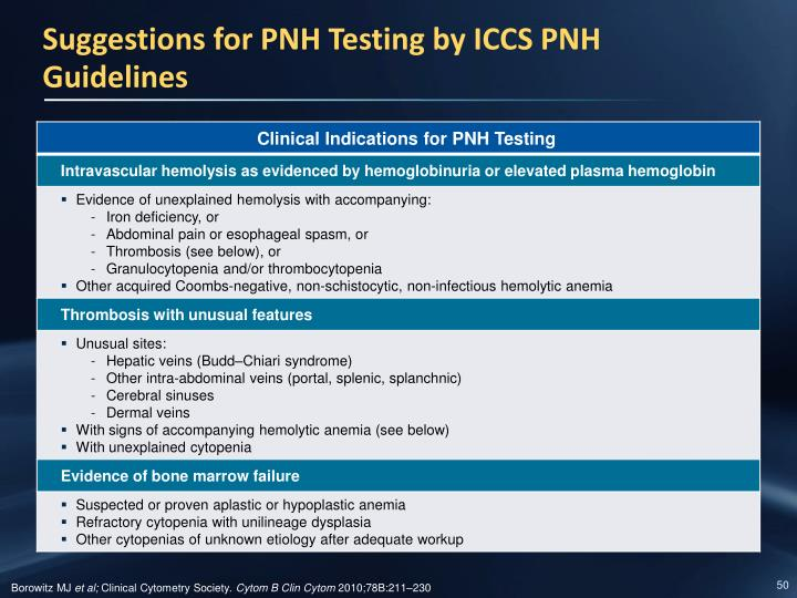 Suggestions for PNH Testing by ICCS PNH Guidelines