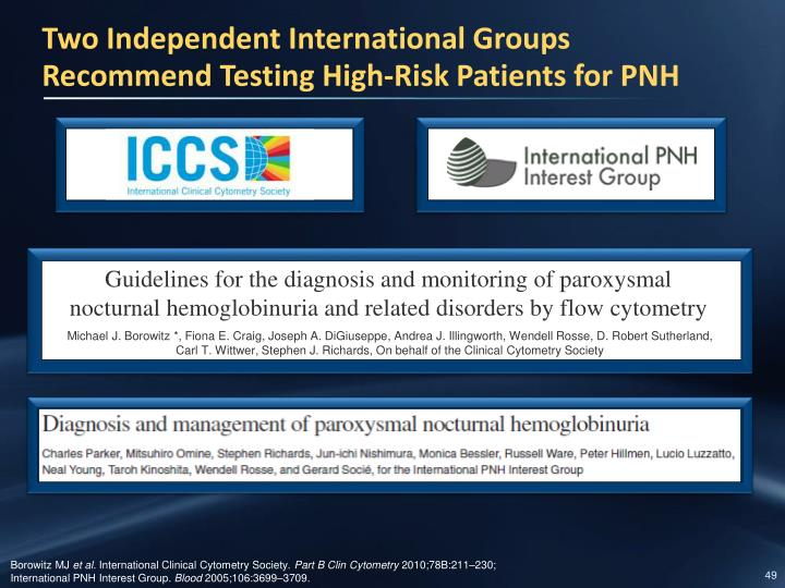 Two Independent International Groups Recommend Testing High-Risk Patients for PNH