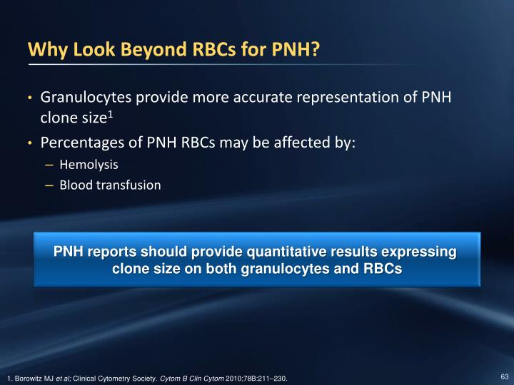 Why Look Beyond RBCs for PNH?