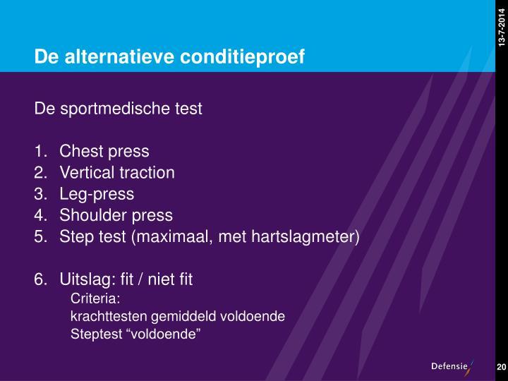 De alternatieve conditieproef