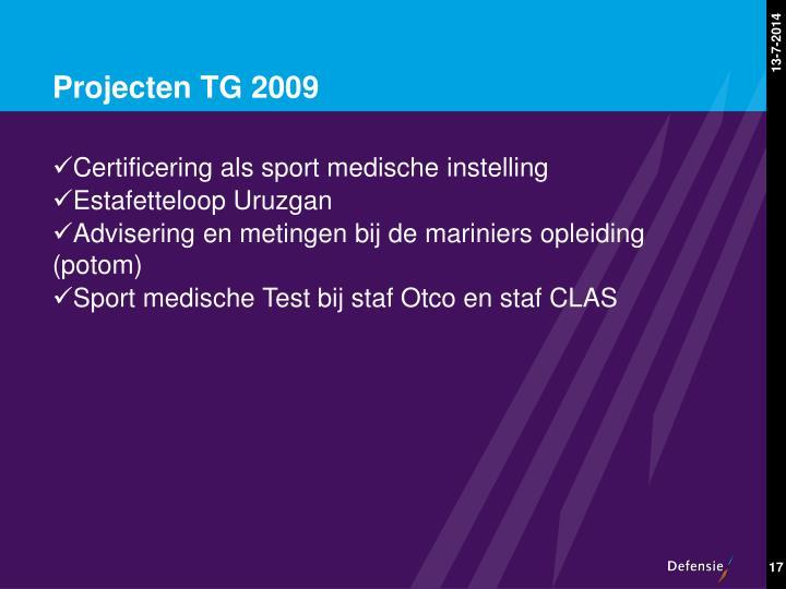 Projecten TG 2009