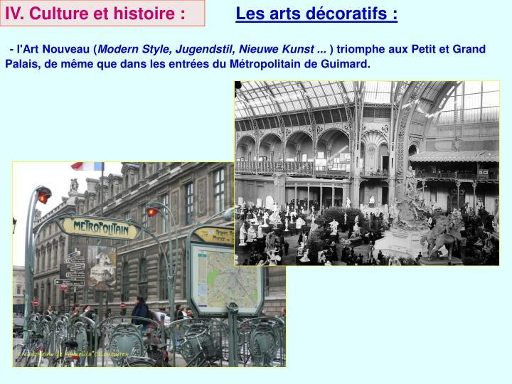 IV. Culture et histoire :