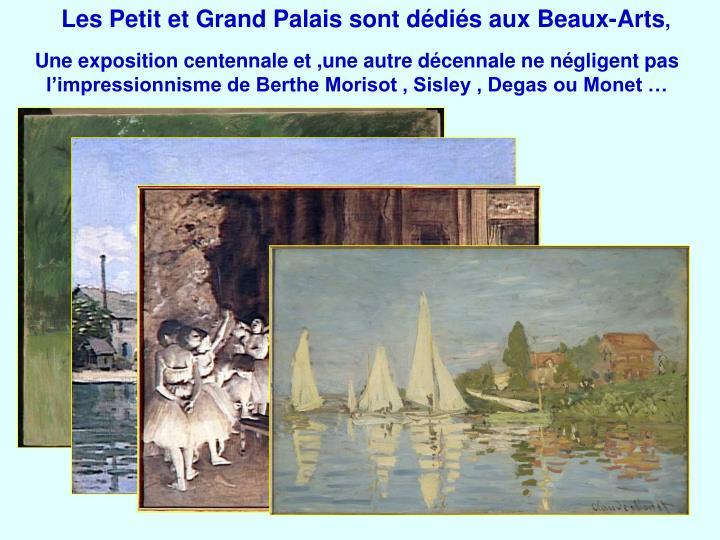 Les Petit et Grand Palais sont dédiés aux Beaux-Arts