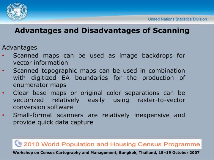Advantages and Disadvantages of Scanning