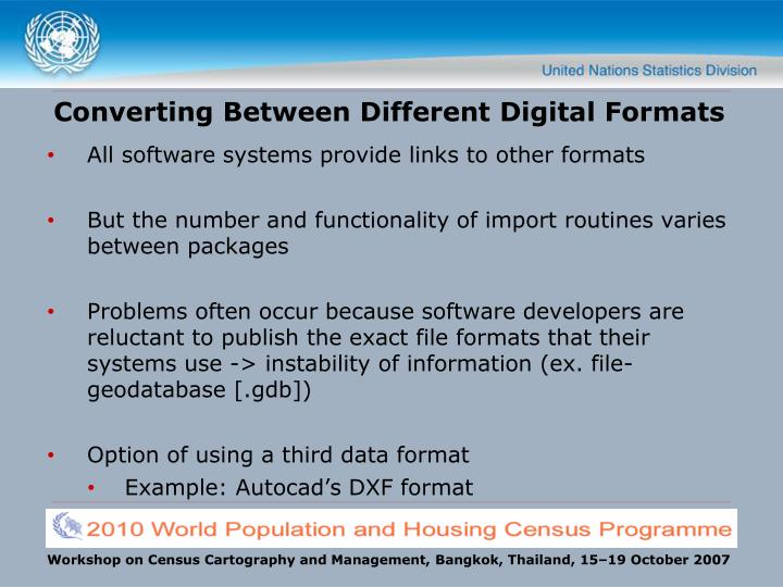 Converting Between Different Digital Formats