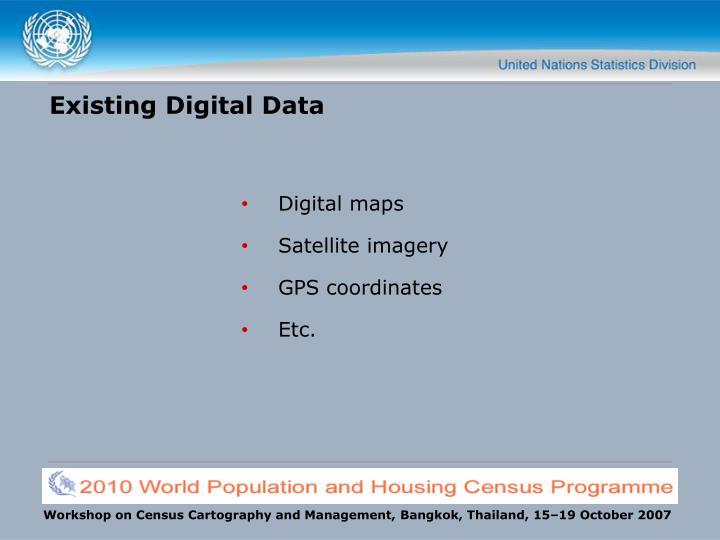 Existing Digital Data