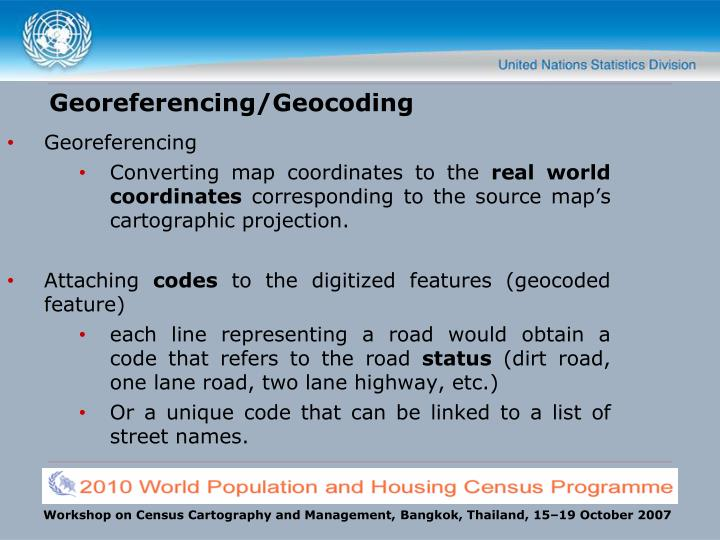Georeferencing/Geocoding