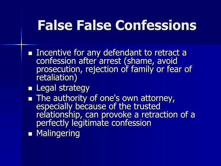False False Confessions