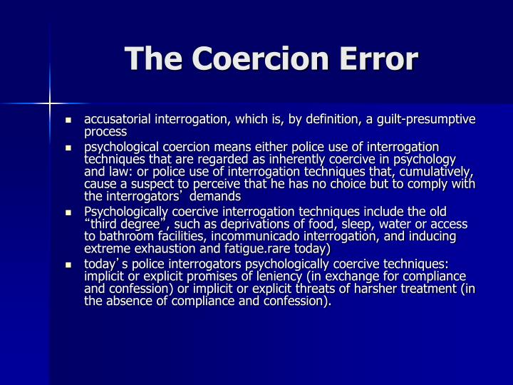 The Coercion Error