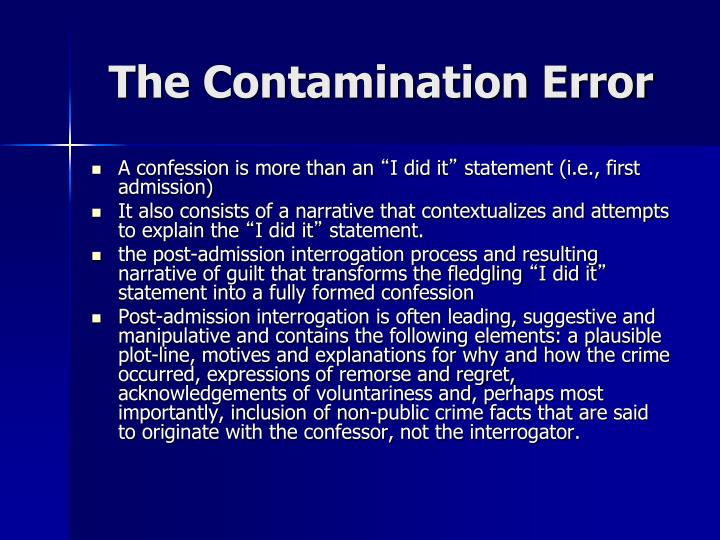 The Contamination Error