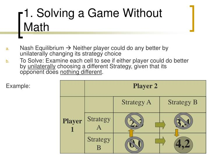 1. Solving a Game Without Math