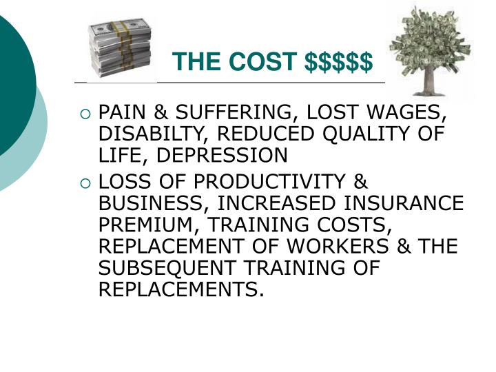 THE COST $$$$$