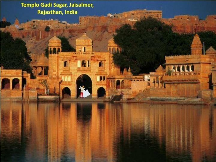 Templo Gadi Sagar, Jaisalmer, Rajasthan, India