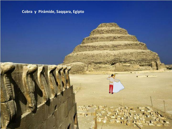 Cobra  y  Pirámide, Saqqara, Egipto