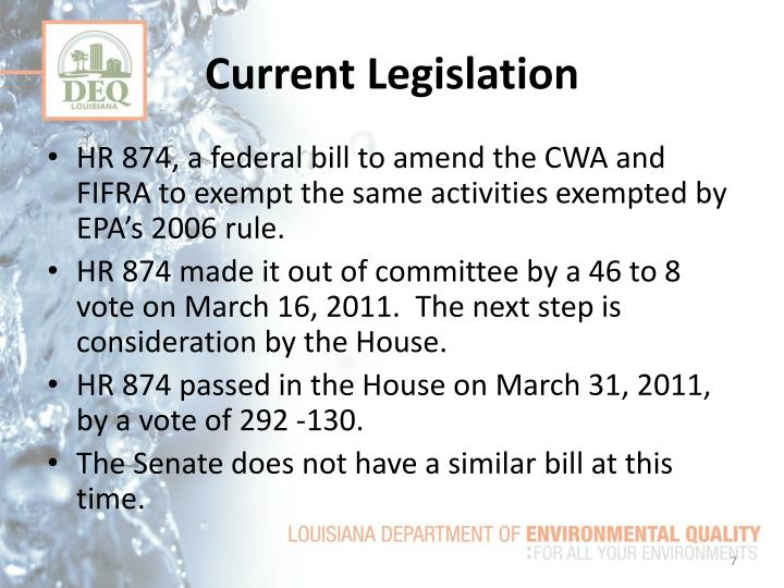 Current Legislation