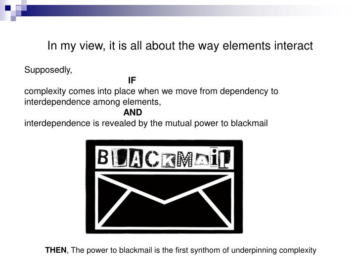 In my view, it is all about the way elements interact