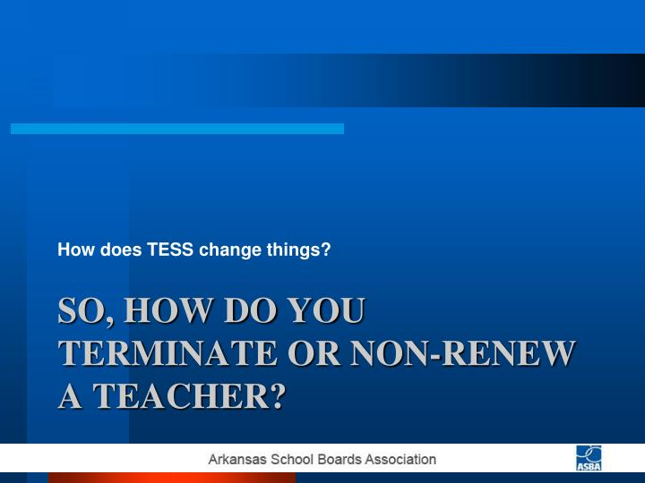 How does TESS change things?