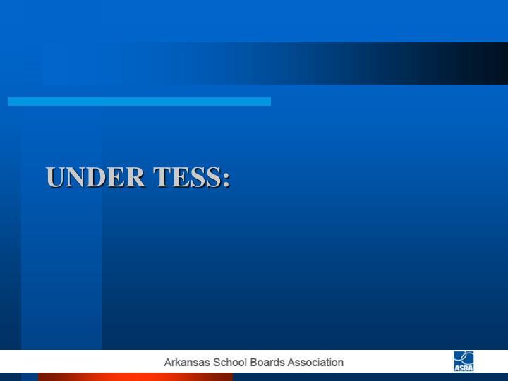 Under TESS: