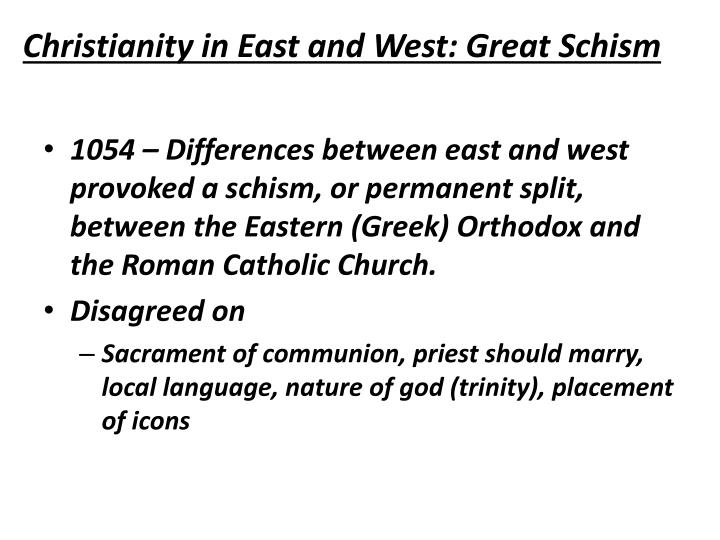 Christianity in East and West: Great Schism