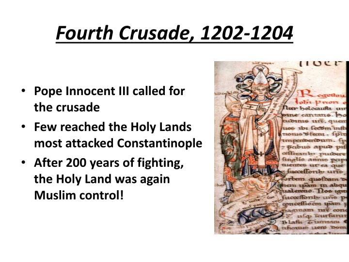 Fourth Crusade, 1202-1204