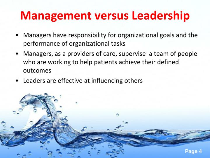 Management versus Leadership