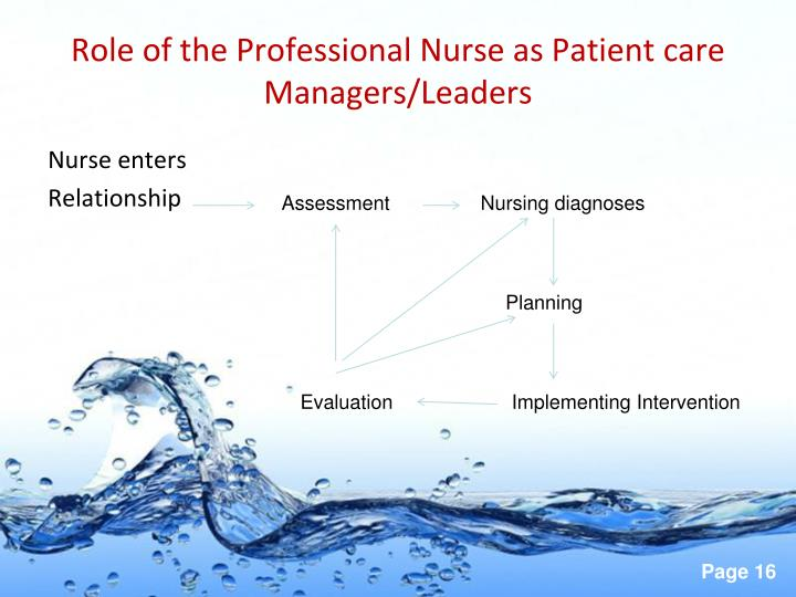 Role of the Professional Nurse as Patient care Managers/Leaders