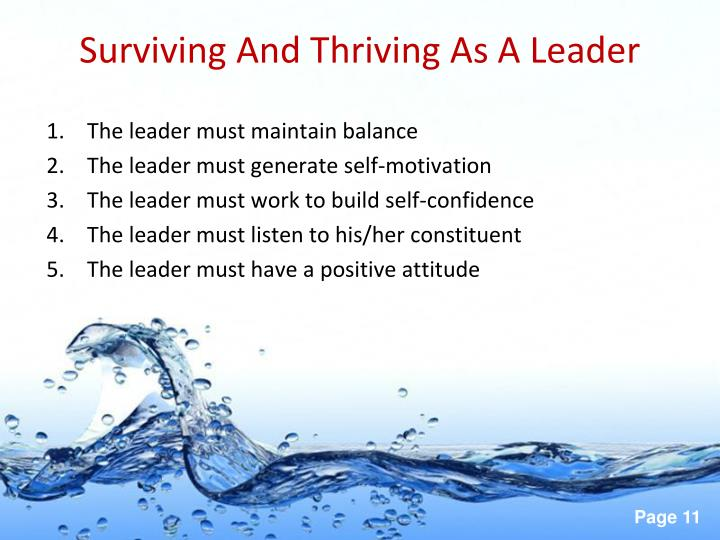 Surviving And Thriving As A Leader