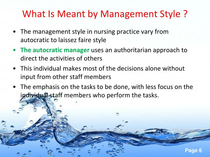 What Is Meant by Management Style ?