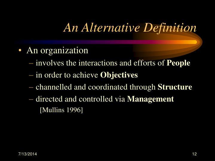 An Alternative Definition
