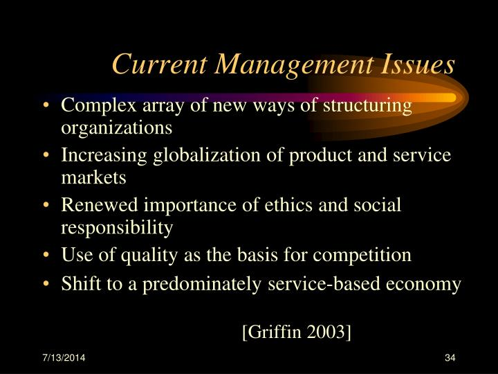 Current Management Issues