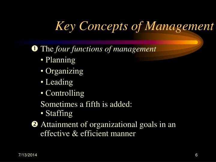 Key Concepts of Management