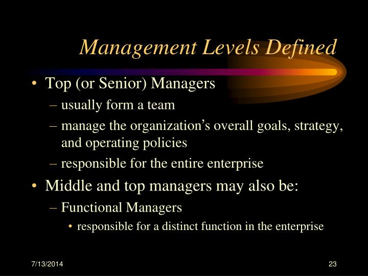 Management Levels Defined