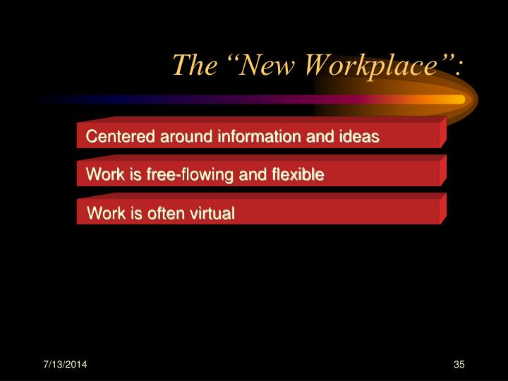 Centered around information and ideas