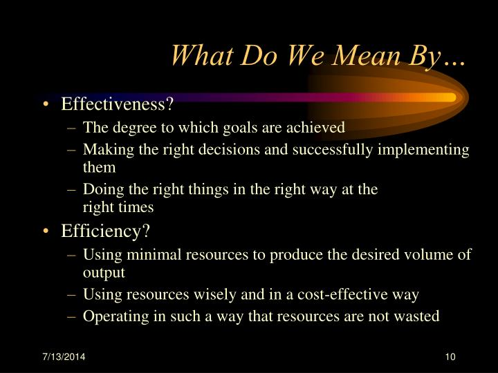 What Do We Mean By…