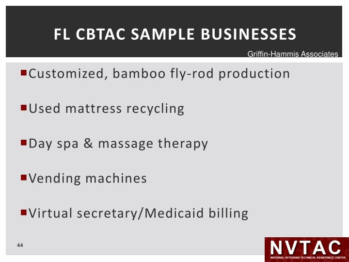 FL CBTAC SAMPLE BUSINESSES