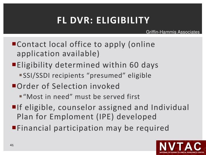 FL DVR: ELIGIBILITY