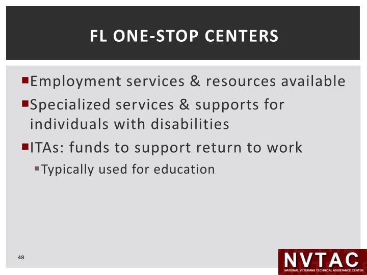 FL ONE-STOP CENTERS