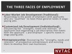 the three faces of employment