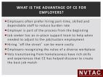 what is the advantage of ce for employers