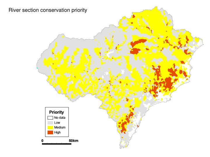 River section conservation priority