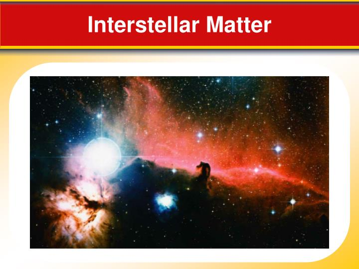 Interstellar Matter