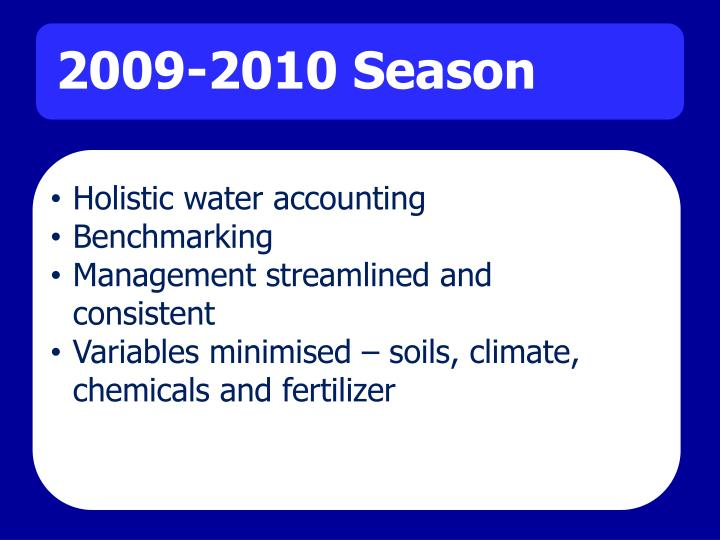 Holistic water accounting