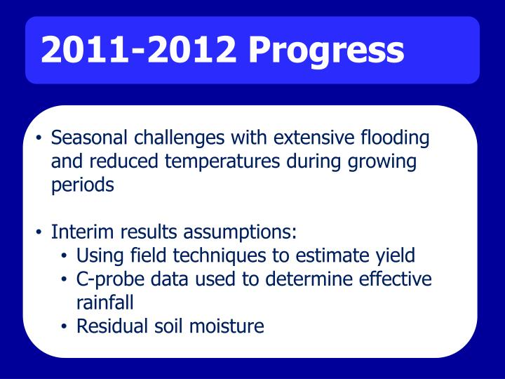 Seasonal challenges with extensive flooding and reduced temperatures during growing periods