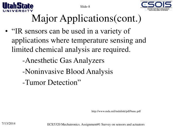 Major Applications(cont.)