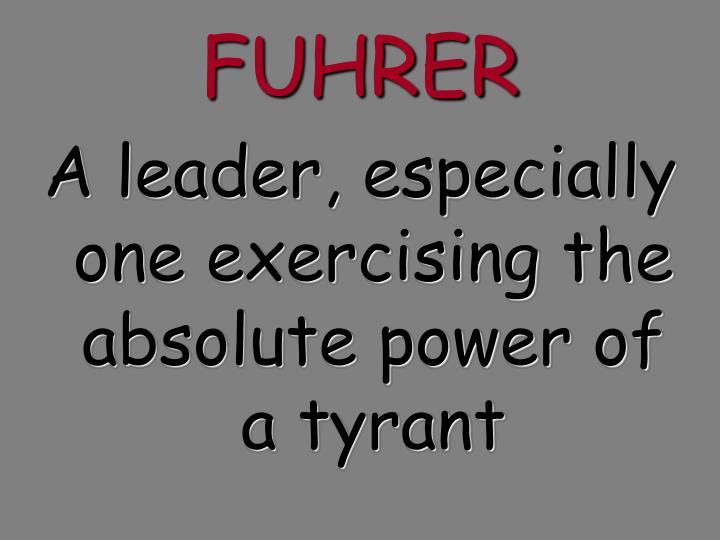 FUHRER